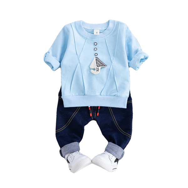 Boys Autumn Sports Clothing Sets Boy Mushroom Outfits Fashion Sportswear Kids Casual Clothing Cute Infant Babies Hot Toddler Clothing Set