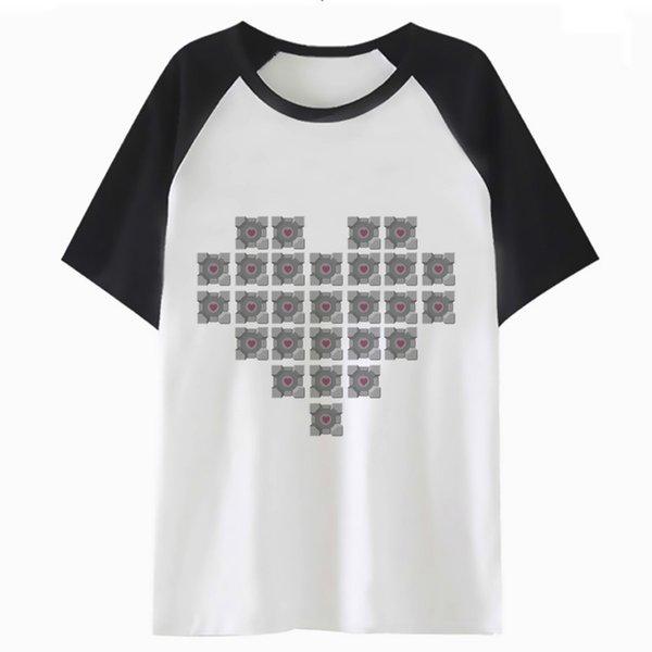 858df889d portal 2 t shirt harajuku for tee hip streetwear t-shirt hop clothing tshirt  top