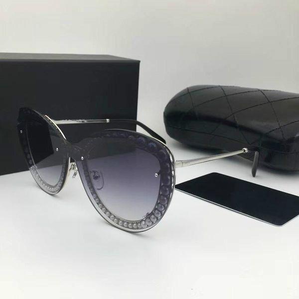 New fashion designer women sunglasses 4236 metal square frame mosaic shiny crystal colorful diamond top quality UV400 lens with original box