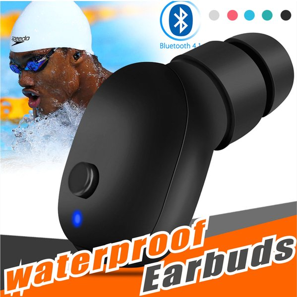0d121ab5322 Wireless Bluetooth Headphones Waterproof Sport Earbud Sweatproof Stable Fit  In Ear Workout Headsets for Swimming Driving