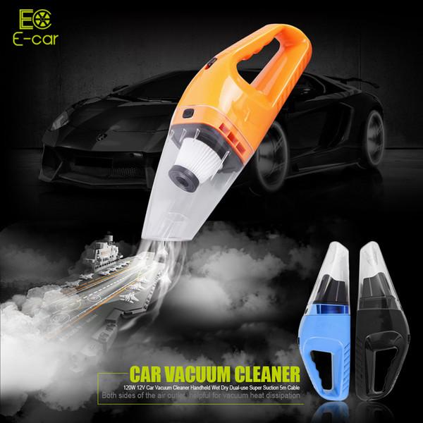 Новый 120 Вт 12 в автомобильный пылесос Ручной Мини-пылесос супер всасывания 5 м кабель мокрой и сухой двойного использования портативный пылесос