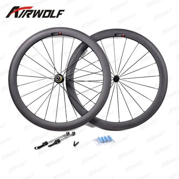 Airwolf carbon wheels for road bike 38/50/60/88mm rim carbon wheelset 700c clincher 3K weave carbon road clincher wheels