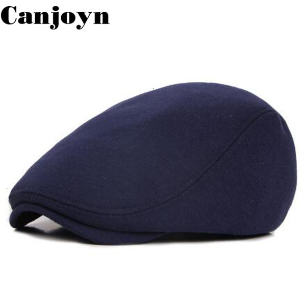 Canjoyn Hot selling England style Solid Cotton Berets hat knitting Spring Summer Autumn Visor