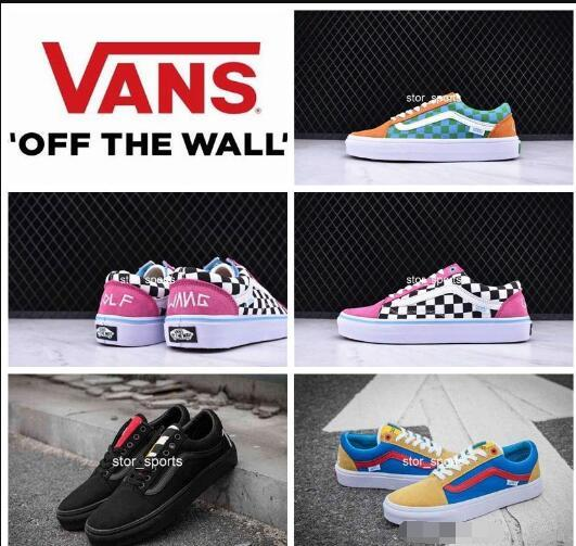 2018 New Color Vans Old Skool Men Womens Casual Shoes, Light