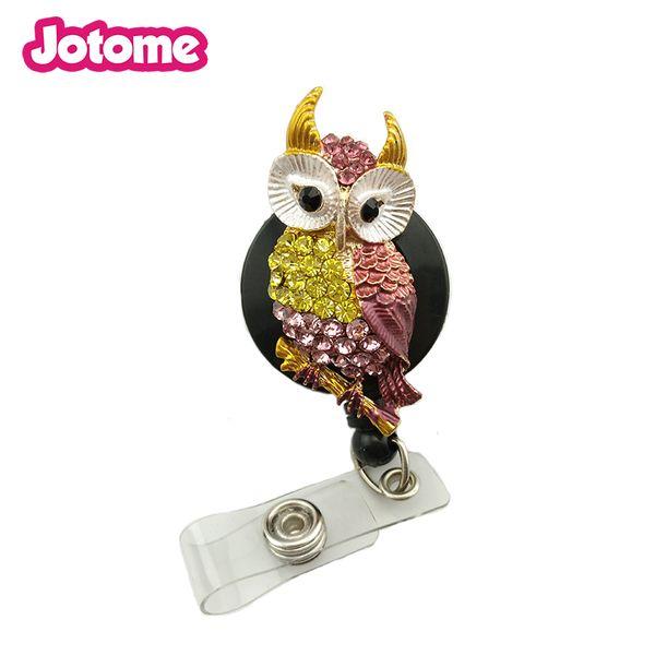 50PCS/Lot Animal Owl Nurse Medical Yoyo ID Card Name Retractable Badge Reel Holder Clip