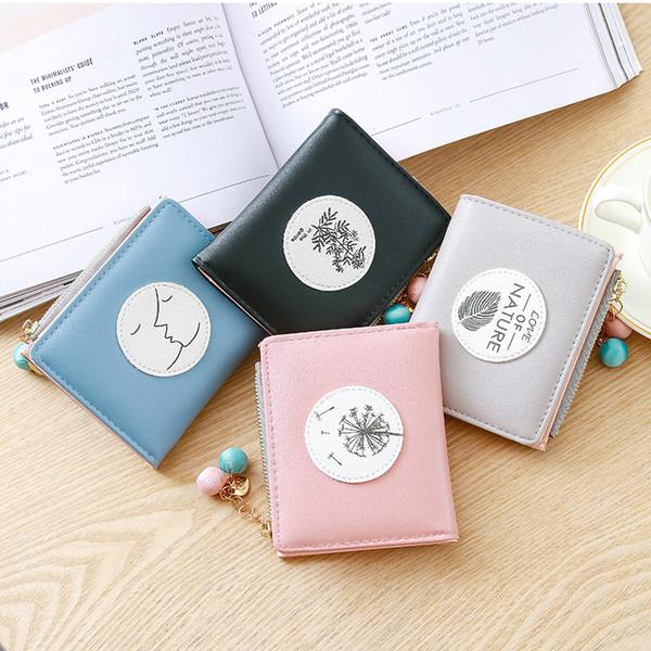 Ladies Shorts Cross Wallets Zipper Purses Card Holders High Quality PU Leather Handbag Clutch Bag Money Pocket Free Shipping