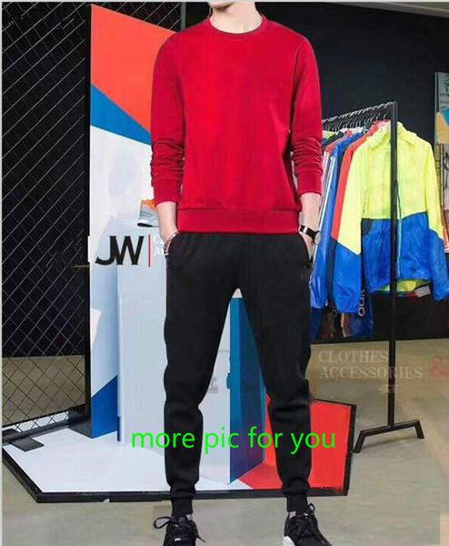 Tute di design di lusso per gli uomini con il logo del marchio Top manica lunga Felpe con cappuccio Pantaloni Tute Abbigliamento uomo di marca Pullover Felpe Plus Size