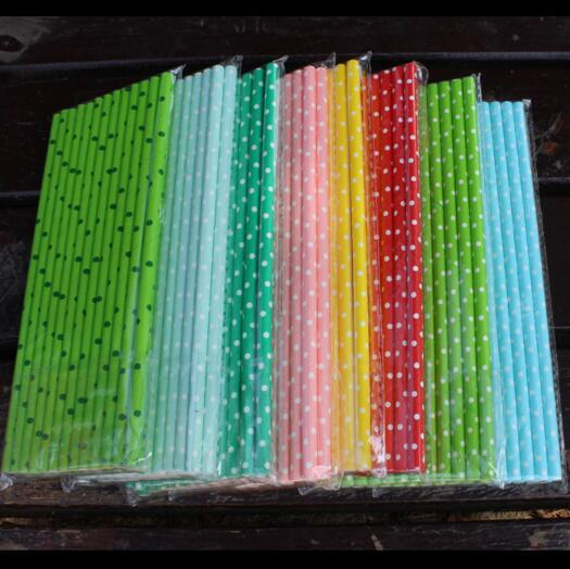 19.7cm Disposable Bubble Rainbow Paper Drinking Straws Dot Environment Friendly Kraft Paper Straw For Bar Party 10000pcs/lot CCA9963 1lot