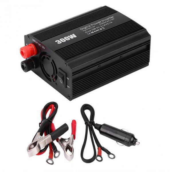 500W DC a AC Convertidor de Corriente DC 12V a 110V 220V AC Inversor autom/ático de autom/óviles Transformador con Adaptador de Coche USB Doble