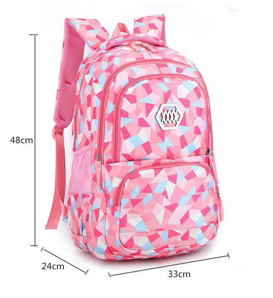 Chica bolso de escuela de moda de luz a prueba de agua Peso chicas Mochila impresión de bolsas mochila niño