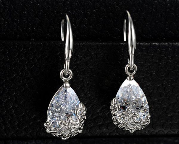 Новый высокое качество классический романтический золото серебро Кристалл падение серьги-летие длинные мотаться серьги ювелирные изделия для женщин серьги
