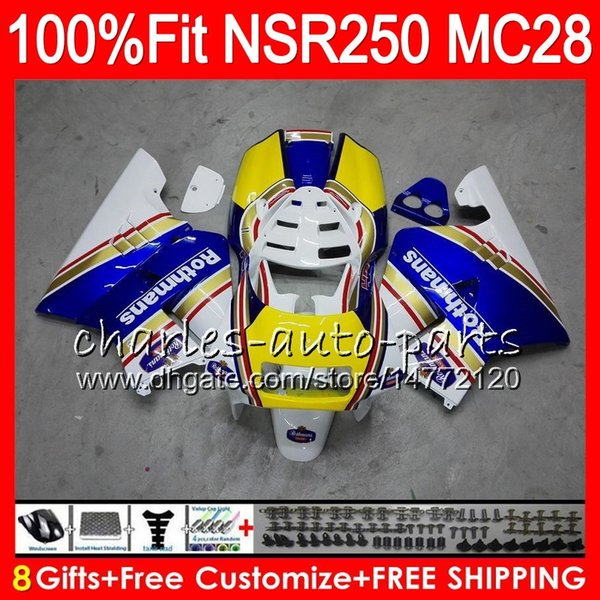Injection Rothmans Blue For HONDA NSR250R MC28 PGM4 94 95 96 97 98 99 79HM60 NSR 250R NSR 250 NSR250 R 1994 1995 1996 1997 1998 1999 Fairing