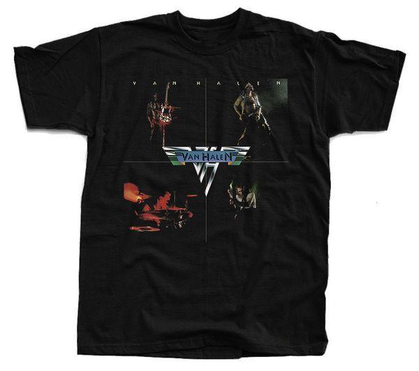 VAN HALEN Van Halen Abdeckung T-Shirt (Schwarz) S-5XL Baumwolle T-Shirt Mode Kostenloser Versand Männer T-Shirt Kostenloser Versand Atmungsaktiv