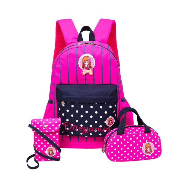escolar 2018 Fashion children cartoon print backpacks school bags for girls High-capacity travel backpack