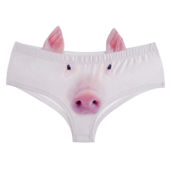 New Fashion 3D Printed cartoon animal Femme Sexy Underwear Women Calcinha Feminina With Ears Cute Panties briefs thong
