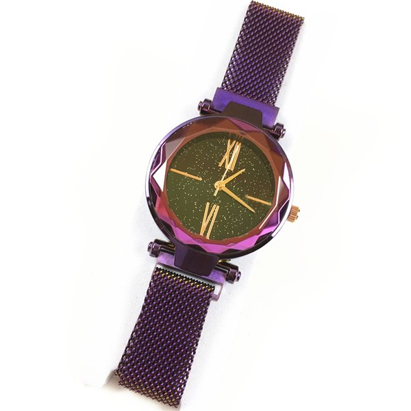 Luxury Lady watches Magnetic buckle Stainless steel Women Wristwatch Female Clock Relojes De Marca Mujer Drop shipping 15pcs DHL free Sexy