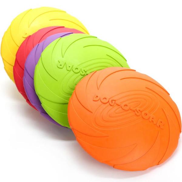 Jouet volant interactif pour chien formation de caoutchouc Drôle chien jouet disques volants Frisbee jouant jouet 15 cm S