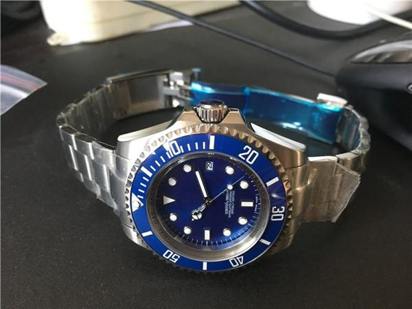 Livraison gratuite de haute qualité montre de marque de luxe montres pour homme grande taille 44mm plongée montre en céramique lunette 139