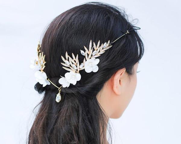 Свадебные аксессуары, кружева цветы, корейский белый алмаз корона