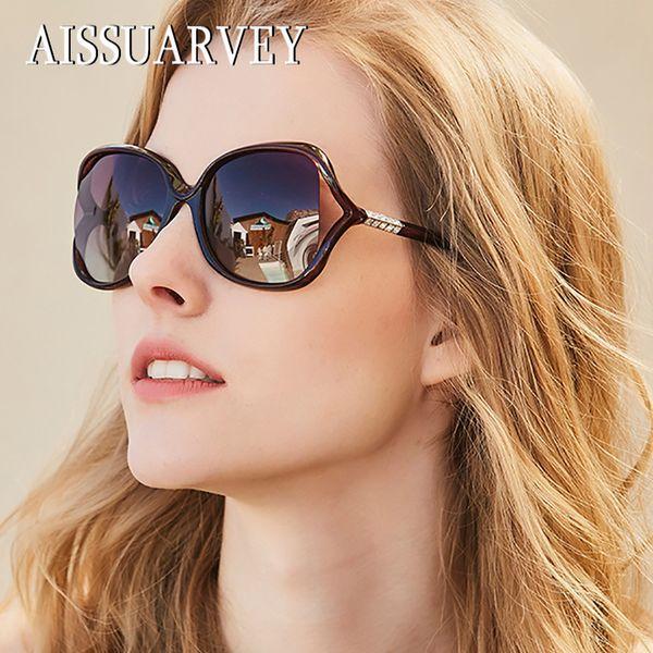 2018 Lüks Asetat Moda Kadın Üst Kalite için Polarize Güneş Gözlüğü Kız Lady Marka Kelebek Taklidi Gözlük Güneş Gözlükleri
