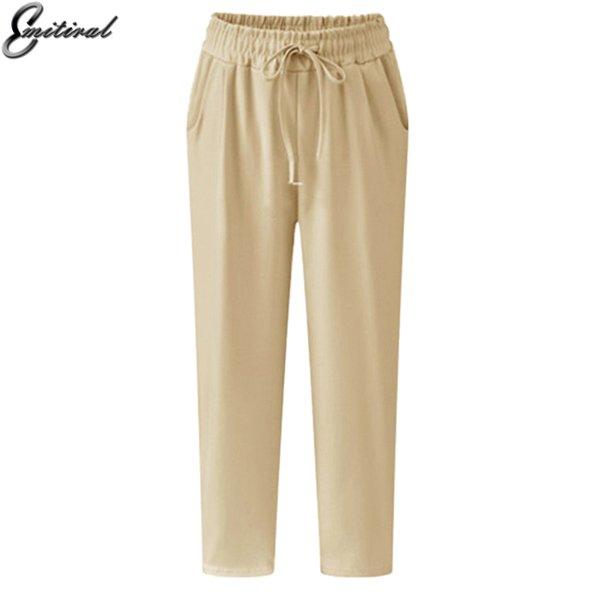 2017 Summer Plus Size 5XL Casual Loose Stretch Women Palazzo Pants Harem Style Elastic Female Slack Sweatpant Trousers Capris D1892605