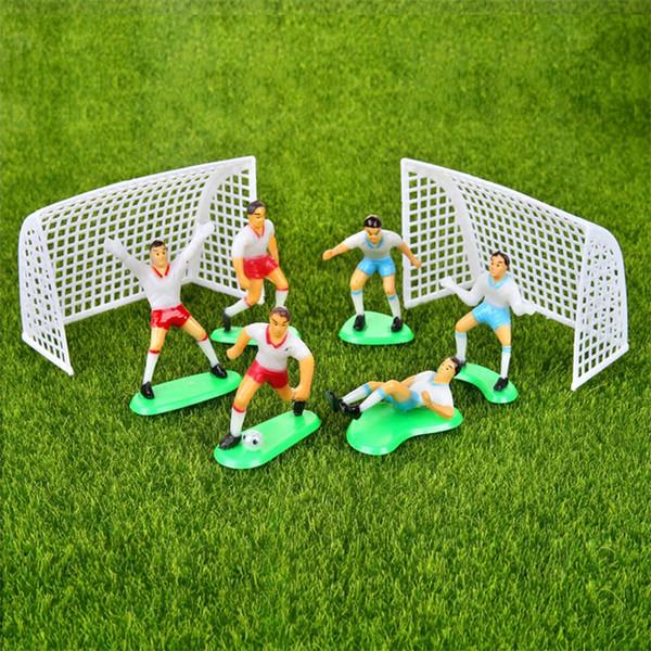 Fútbol Niños Miniatura Estatuilla Spoart Equipo Cake Decoration Mini Fairy Garden Party Figuras de Acción Adornos para el Hogar de Regalo