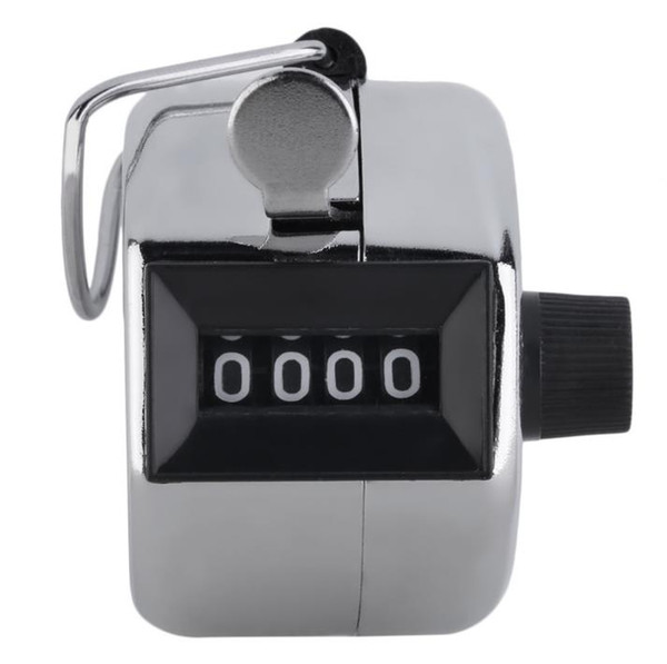 top popular Digits Stainless Counters Professional 4 Digit Hand Held Tally Counter Manual Palm Clicker Number Counting Golf SN1123 2020