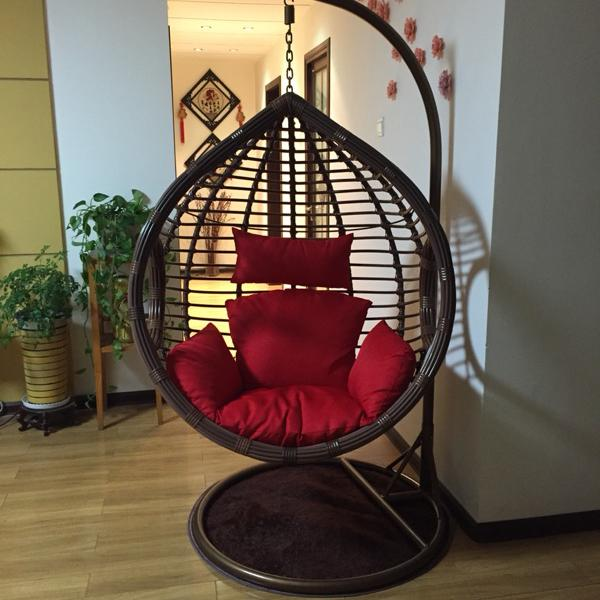 2019 Rough Rattan Livingroom Bedroom Balcony Hanging Chair Swing Rocking Leisure Chair With Armrest And Pedal Footrest From Wlnsfurniture 246 24
