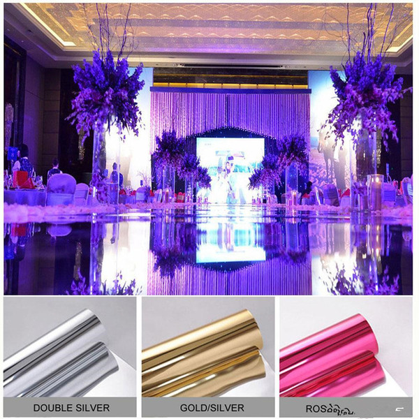 Double Side Wedding Party mirror Carpet Aisle Runner Decoration Silver/Gold/Rose red/Purple/Fuchsia Wedding Carpet for Party