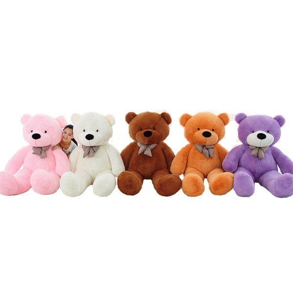 On Sale 1 piece 80cm-120cm bear Plush toys teddy bear big embrace bear doll lovers/christmas gifts birthday gift baby