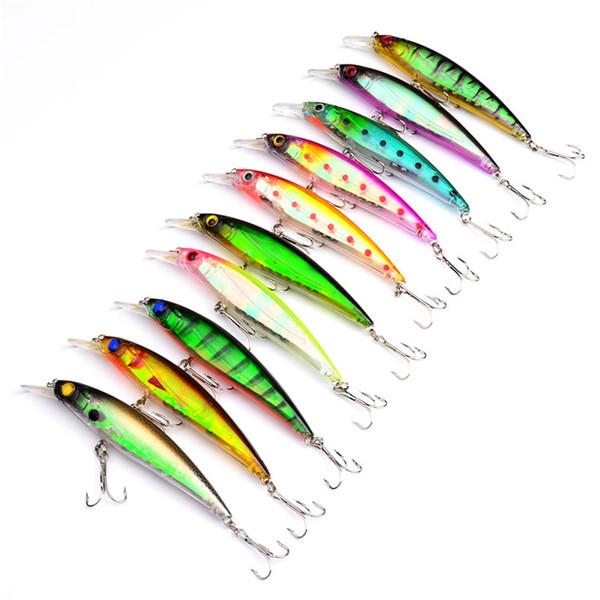 Wholesale promotions price Plastic Minnow lure 11cm 13.4g Freshwater Fishing bass Crankbait swimbaits Hard Bait