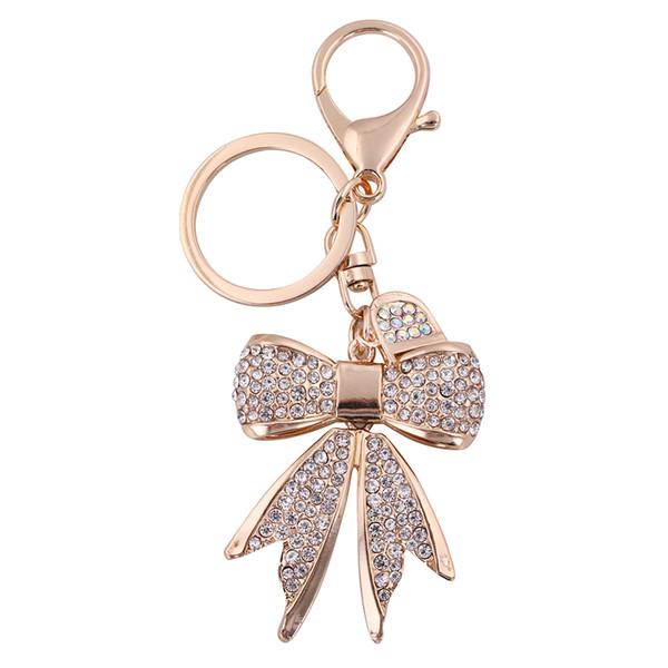 Catenina a forma di catena di portachiavi a forma di catena di bowknot per regalo della ragazza