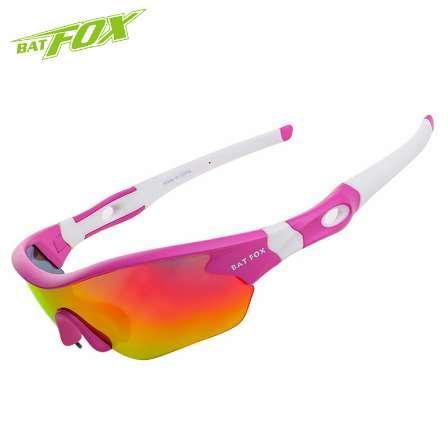 73ee29e4cd BATFOX Pink Bicycle Ciclismo Eyewear UV400 Outdoor Sport Ciclismo Gafas de  sol MTB Mujer Bicicleta Gafas