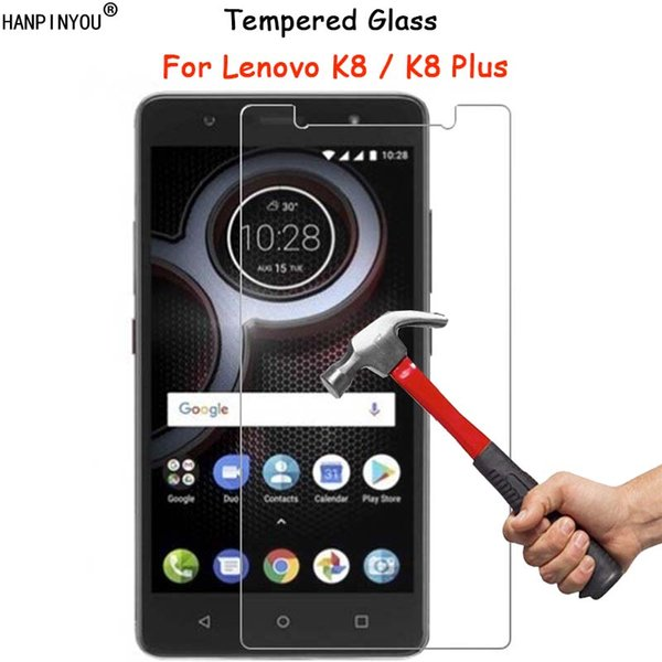 """For Lenovo K8 / K8 Plus K8+ 5.2"""" Clear Tempered Glass Screen Protector Ultra Thin Explosion-proof Protective Film + Cleaning Kit"""