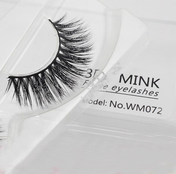 Pure Handmade Fake Eyelashes Voluminous Lashes extension 3D Layers Natural Curl Criss False Eyelash For Upper Eyes Real 3D Mink Hair Lash HO