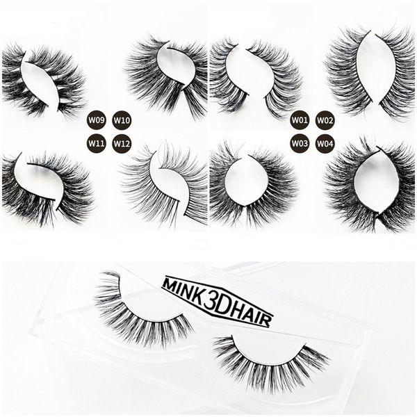 3d Mink Lashes Mink Eyelashes Thick Natural Long False Eye Lashes Eyelash Extension Eye Makeup Curly Soft Full Strip Lashes
