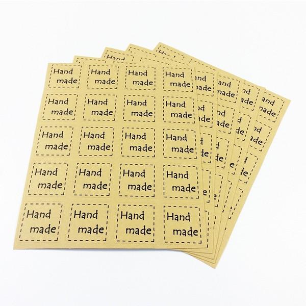 2000 unids / lote DIY Scrapbooking Kraft Sellado Pegatinas Artesanías de Papel Etiquetas Hechas A Mano Embalaje Sobres Bolsas Etiqueta