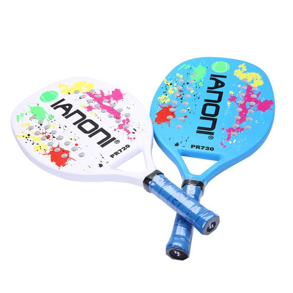 IANONI Beach Tennisschläger Tenis Padel für Herren mit Carbonfaser-Oberfläche und EVA Memory Foam Professionelle Tennistasche