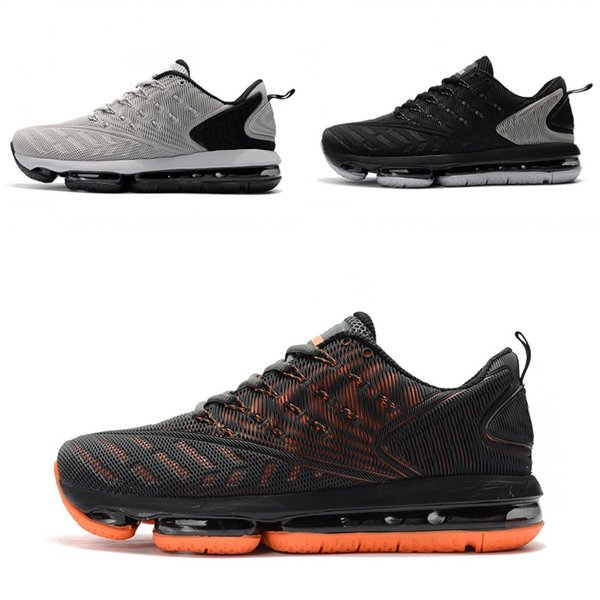 2019 New Arrivals breathable upper cushion Running Shoes men women Deep blue Black Grey Outdoor Sneakers Size 36-47