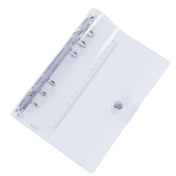 Pvc Spiral Agenda Journal Notebook Sheet Shell Diy Transparent 6 Holes Binder Diary Planner Cover