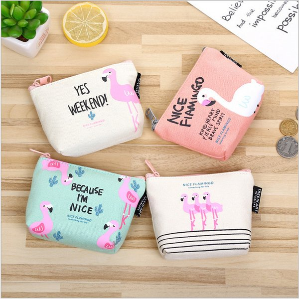 Cute birds Zipper Coin Purses Mini Wallets Canvas Key Holders Portable Fashion Pouch Change Bags Handbag Free Shipping