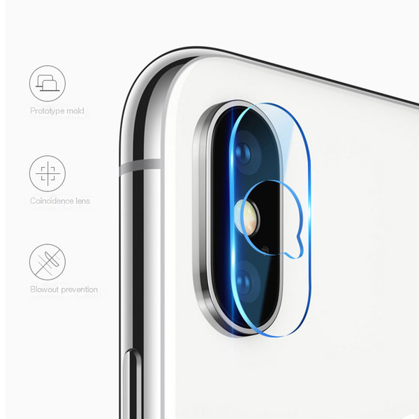 For ip XR XS MAX X lens tempered glass 2.5D Film Camera Lens Screen Protector Back Cover Glass With Retail package