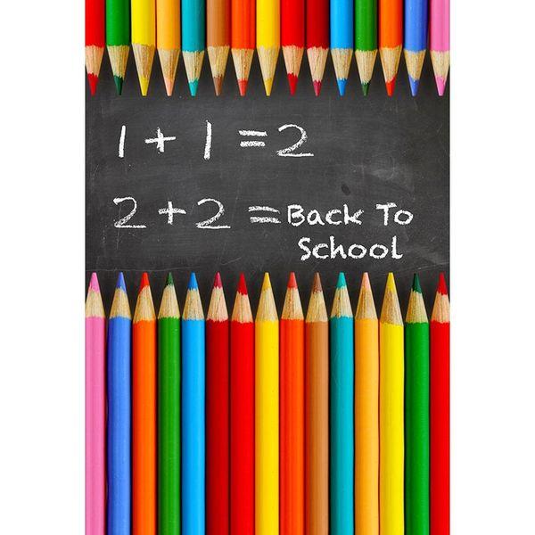 Lápis de cor fotografia Backdrops Blackboard de volta para a escola de crianças e crianças fundos para Photo Studio Photophone
