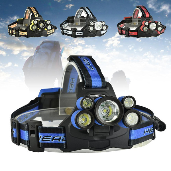 15000LM 5 modes High Power 3T6 + 2XPE LED Light USB Rechargeable Headlight Lamp With SOS Whistle Torch for hunting