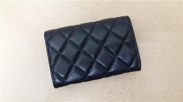 Бизнес-стиль из натуральной кожи держатели карт классическая мода Алмазная решетка нить сцепления карты кошелек женщин визитные карточки кошелек