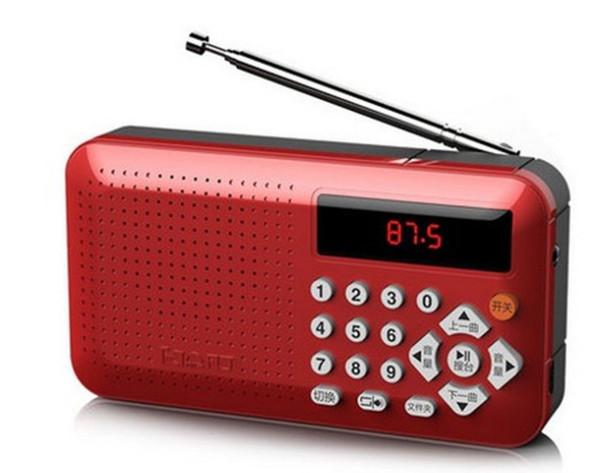 Mini Portable dual band Rechargeable Digital LED display panel Stereo FM Radio Speaker USB TF mirco for SD Card MP3 Music Player LLFA