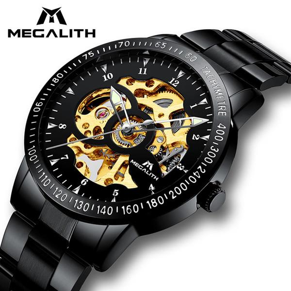 Hueco Agua Compre Megalith De Para Acero Inoxidable Automático Prueba Reloj Mecánico Hombres Deporte A Relojes VUSzMqpG