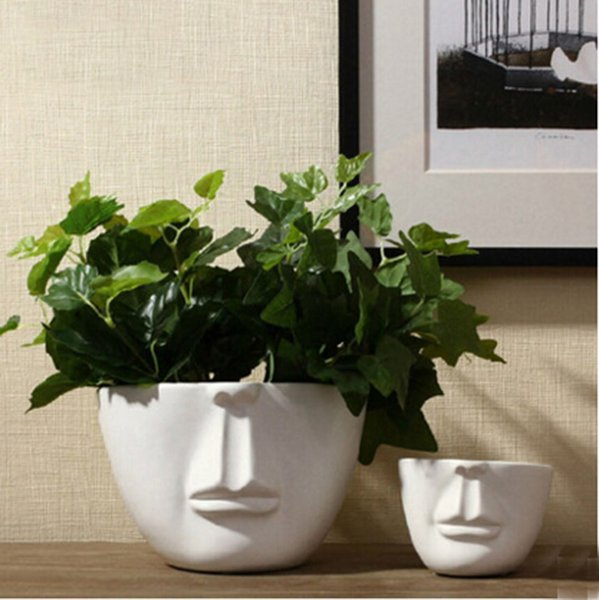 Moderne Blumentöpfe großhandel topf keramik gesicht blumentöpfe pflanzgefäße
