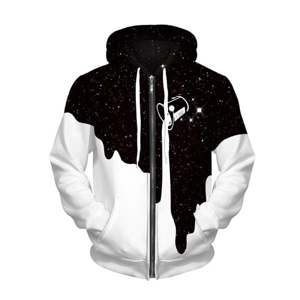 High Quality Mens Womens Designer Hoodies Winter Warm Star Milk Printed White Hoodie Fashion Couple Zipper Sweatshirt