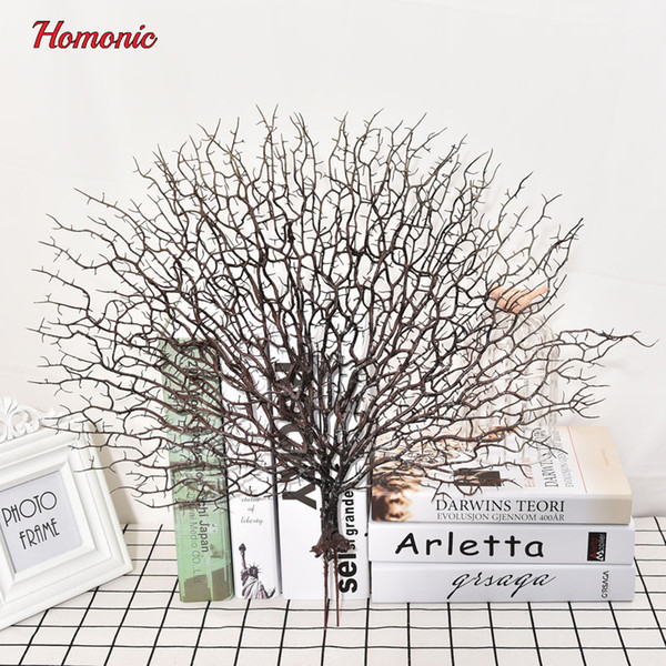 2019 Hot Sale wholsale Wedding Peacock coral Branch plastic decoration dried plants white tree branches artificial plant party supplies